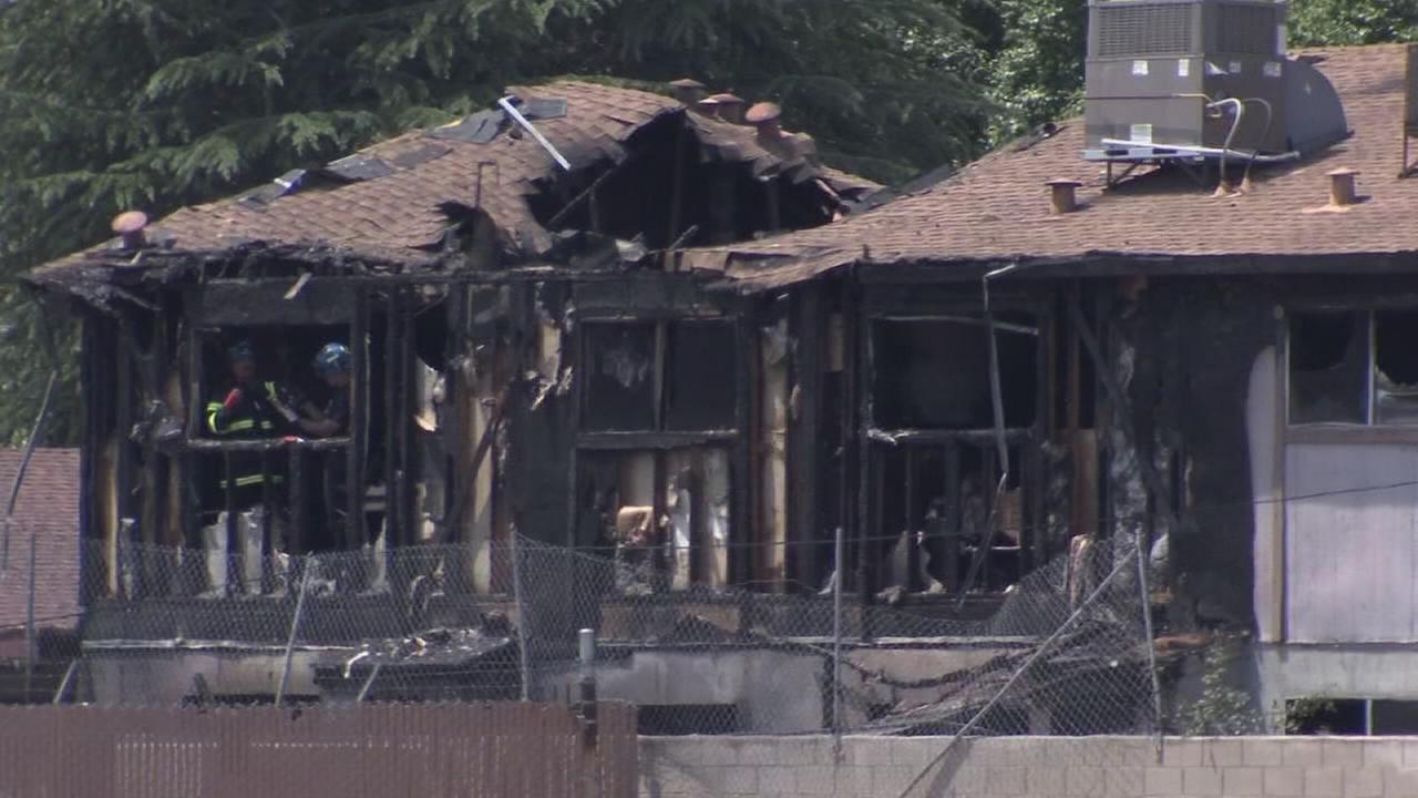 Apartment fire displaces seven families