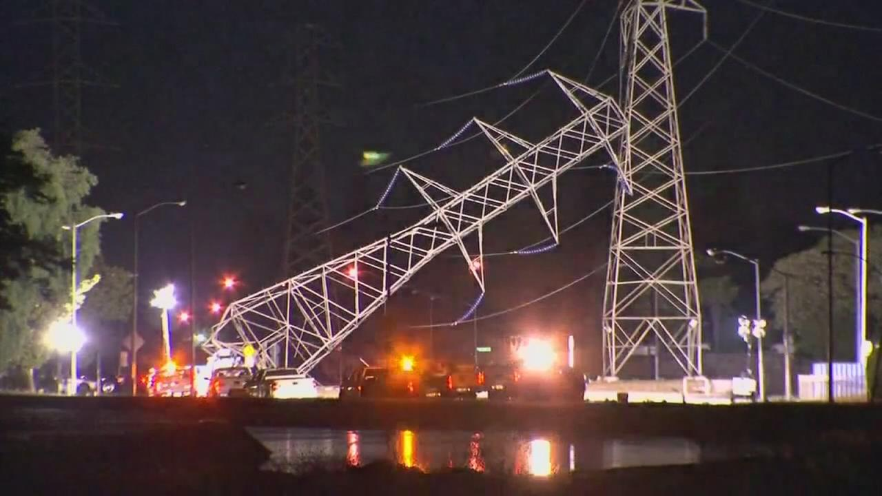 Thousands without power after crash takes out transmission line