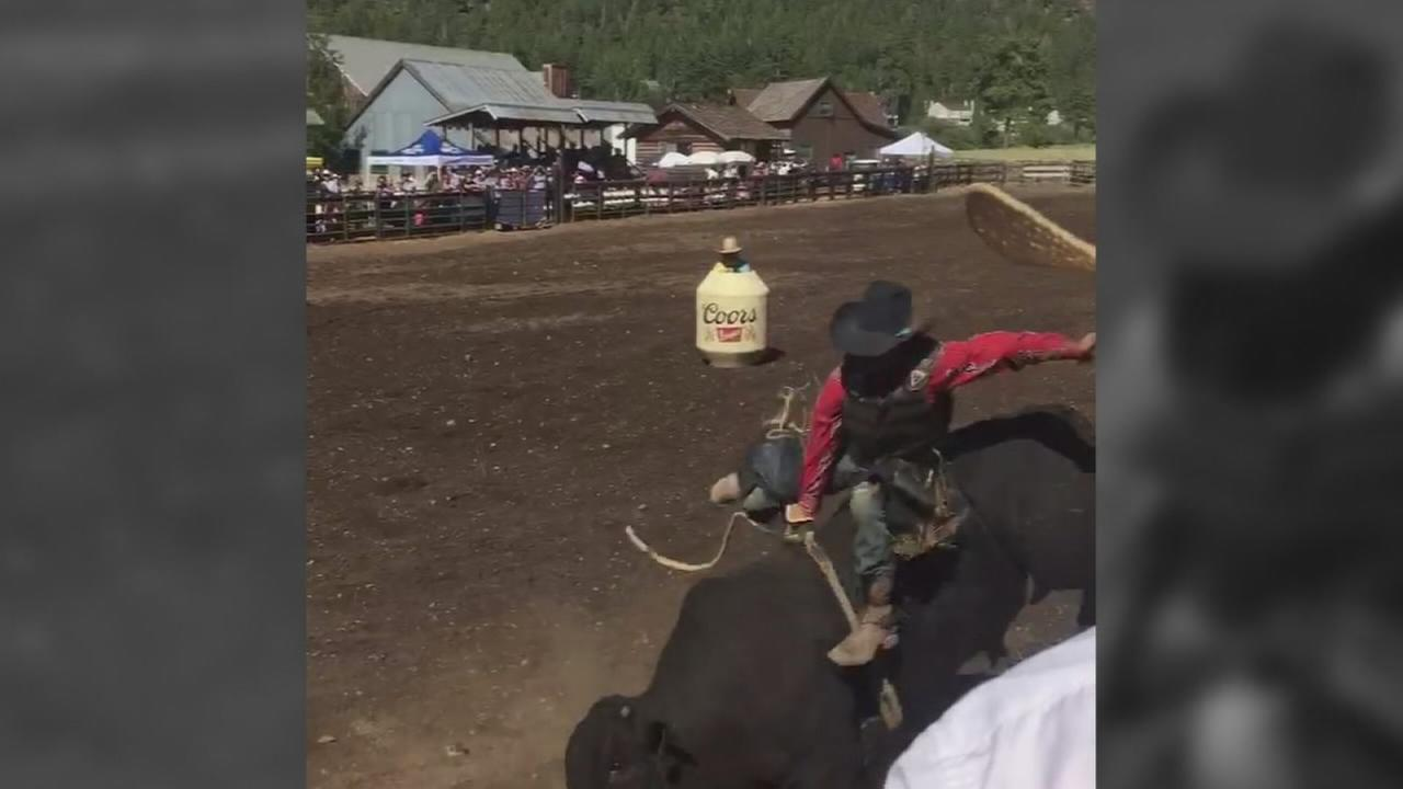 Bull riding accident leaves a young rider in a coma