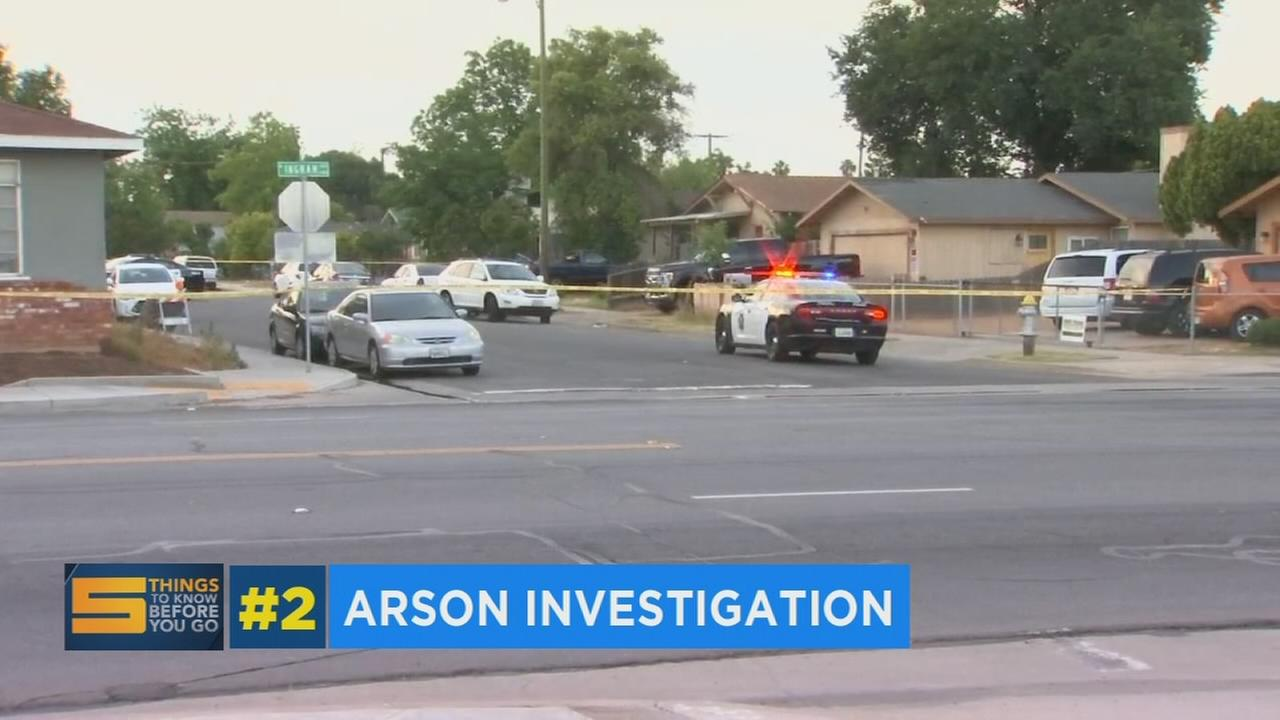 Fresno Police investigating possible arson in Northwest Fresno