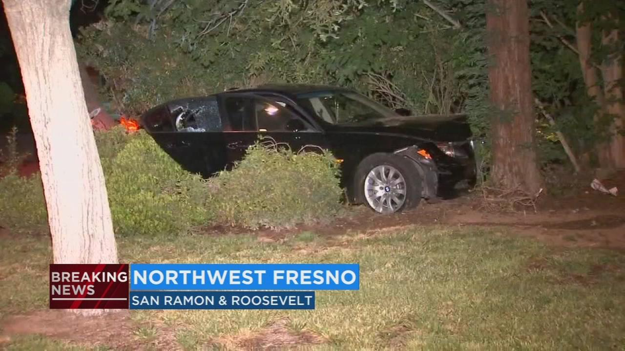 Woman arrested for leading police on chase and then crashing in Northwest Fresno