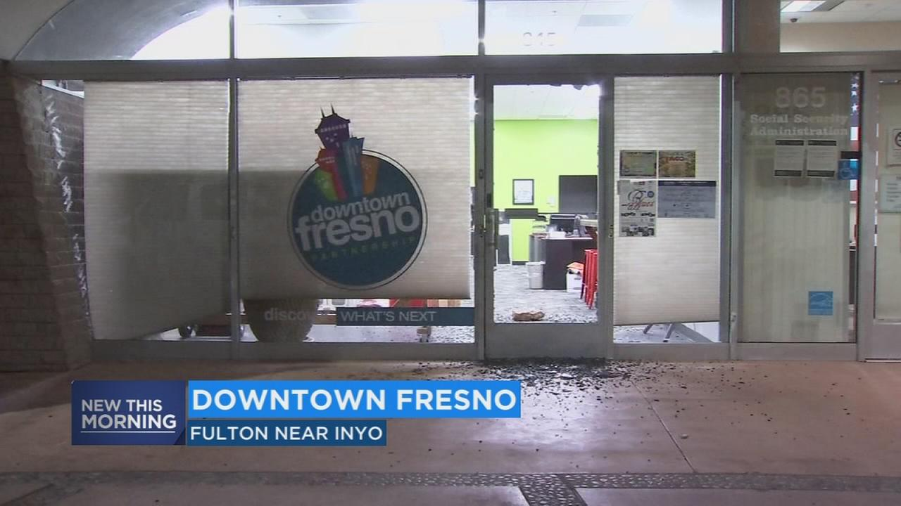 Police looking for person who vandalized Downtown Fresno Partnership Office