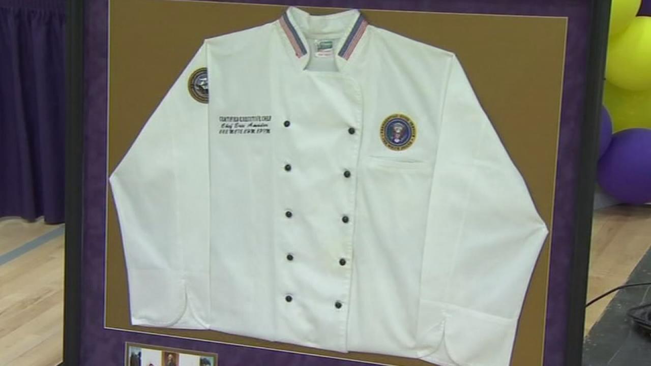 Former White House chef donates jacket to Fresno High