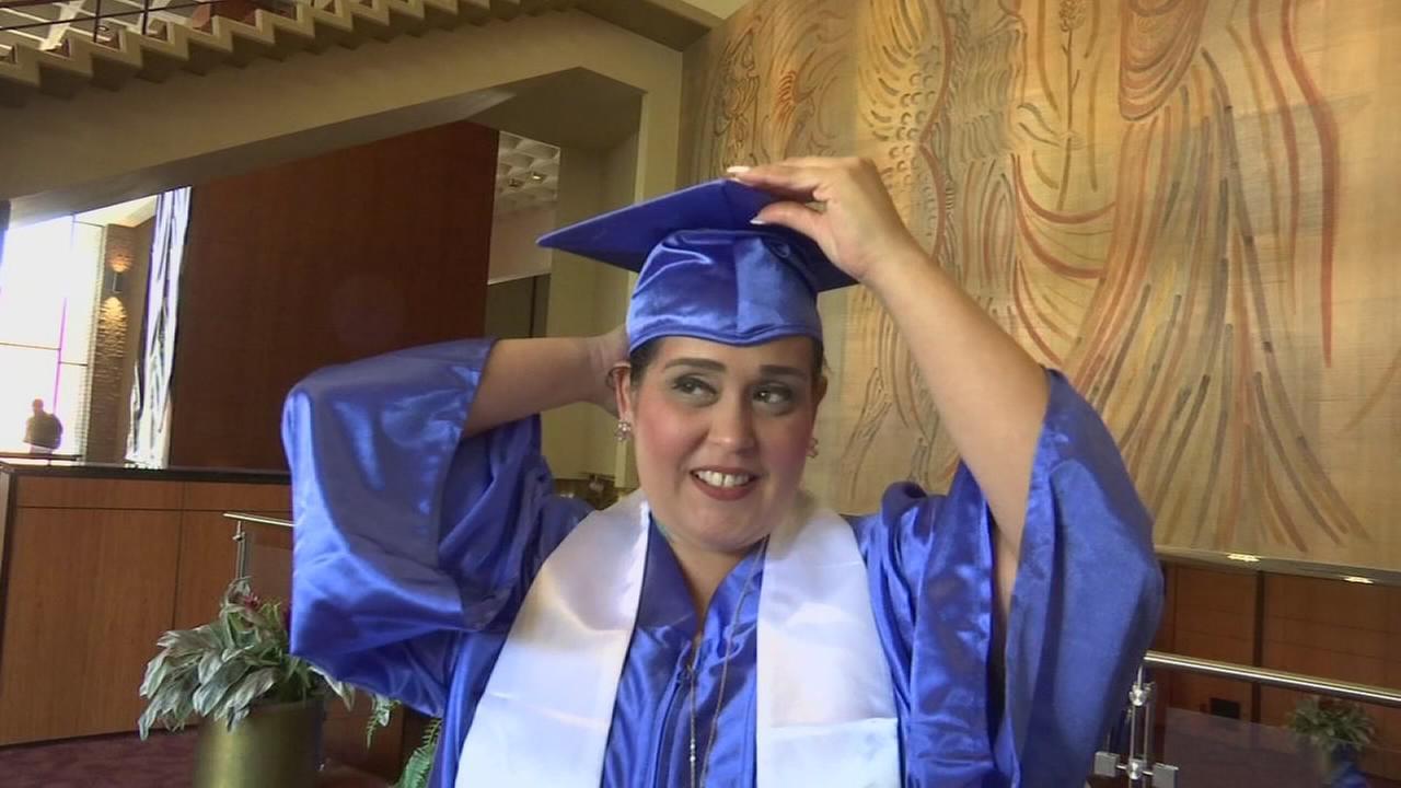 Fresno student defies odds, walks across graduation stage