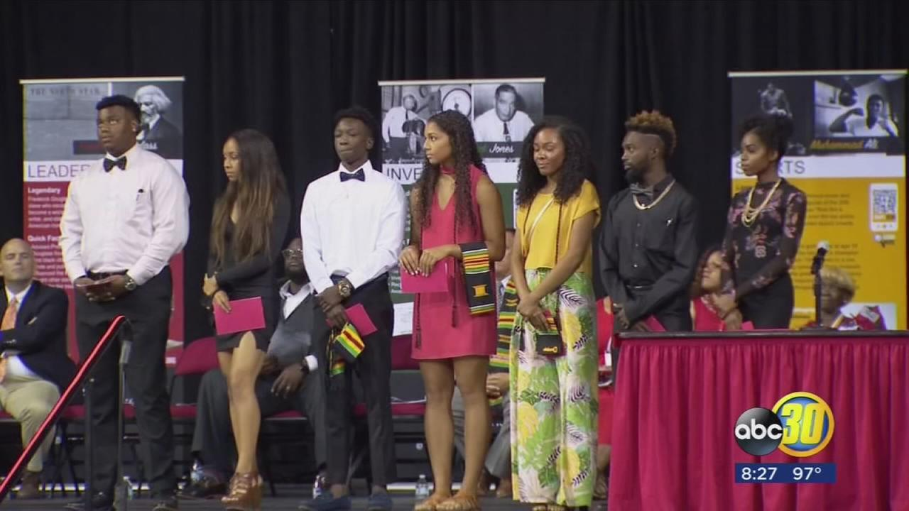 Hundreds of graduating students take part in 25th African American high school recognition ceremony