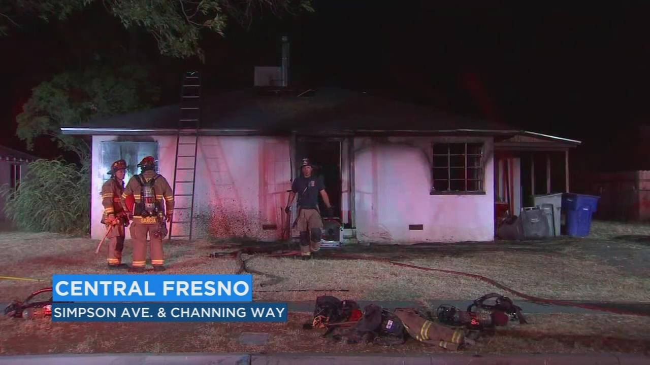 Firefighters trying to determine cause of house fire in Central Fresno