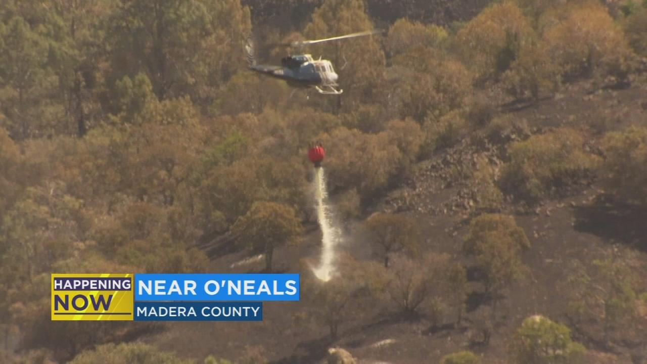 Crews close to containment of vegetation fire burning in Madera County