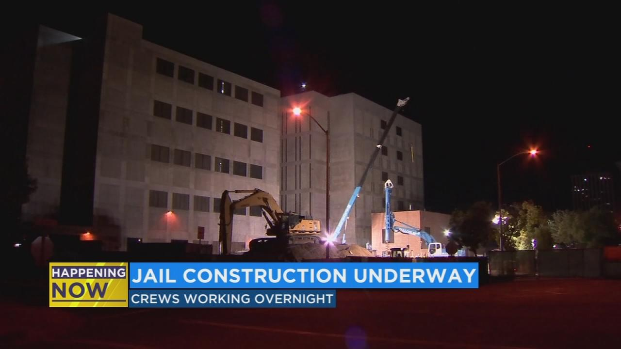 Crews start work on new Fresno County Jail site in Downtown Fresno