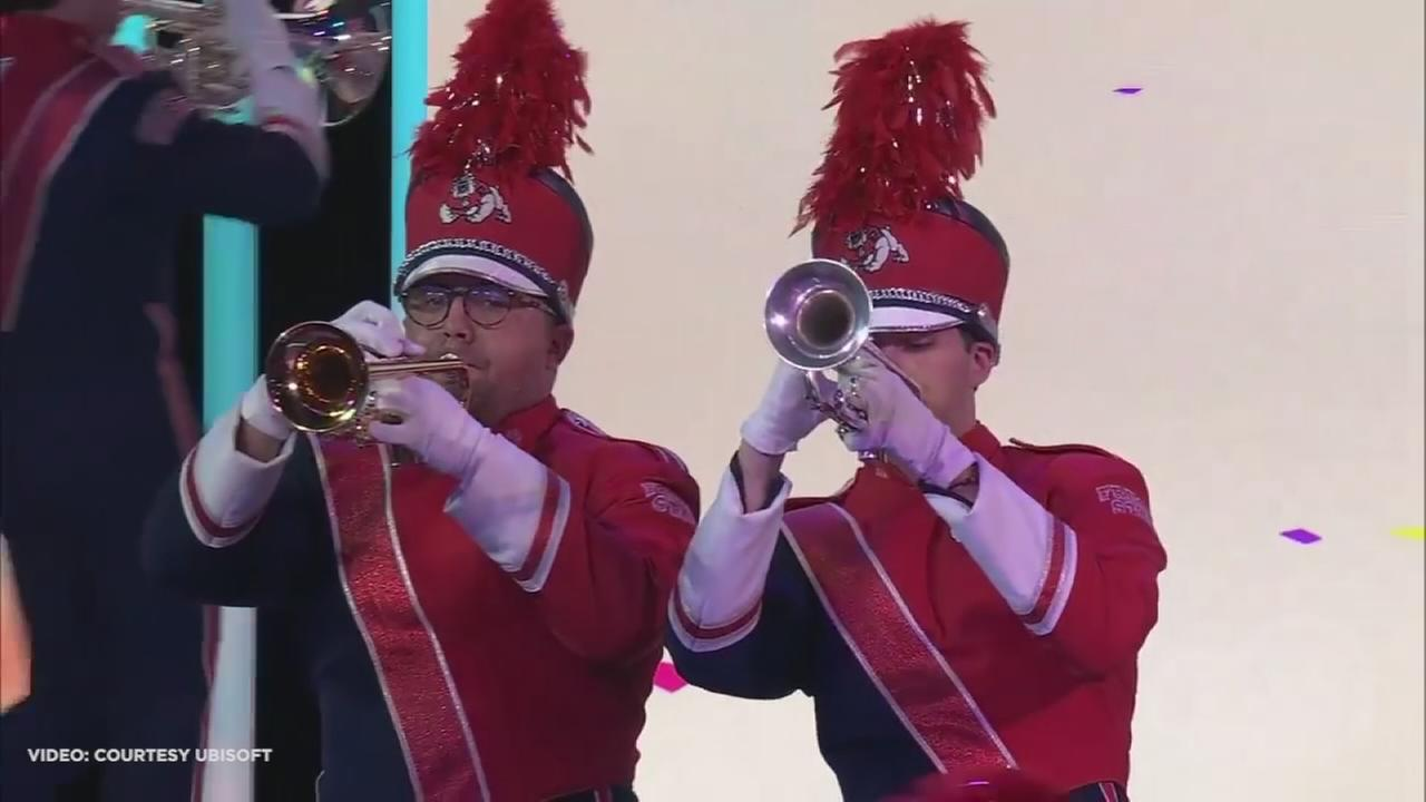 Fresno State marching band plays at E3 in Los Angeles to reveal new Just Dance game