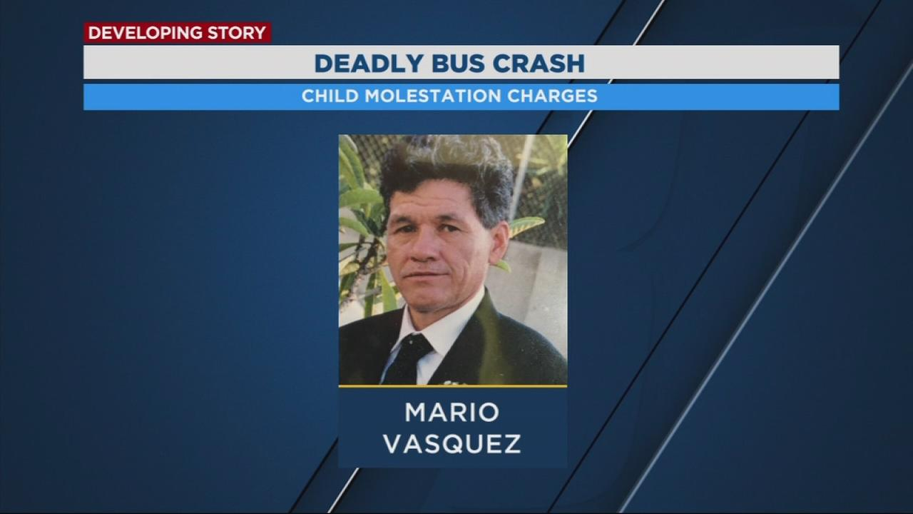 Bus driver accused of deadly crash now facing child molestation charges