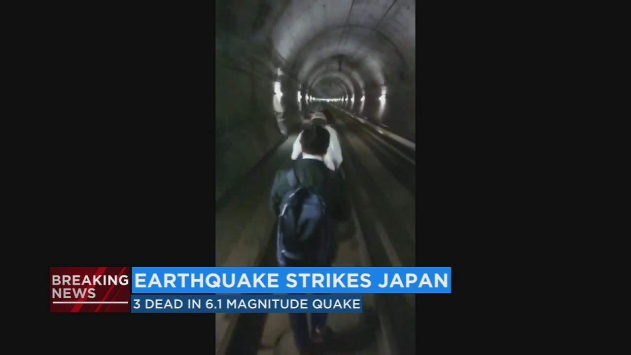 3 killed, 300 injured after 6.1 magnitude earthquake strikes Japan