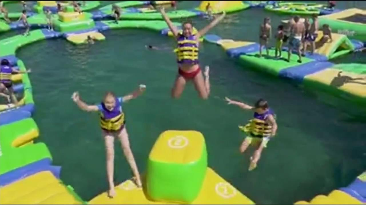 Floating waterpark comes to Merced County