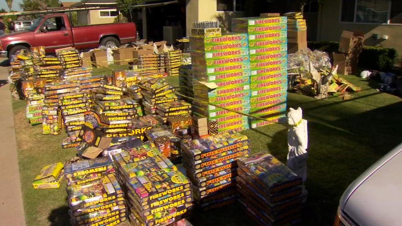 Massive cache of stolen fireworks found inside Clovis home