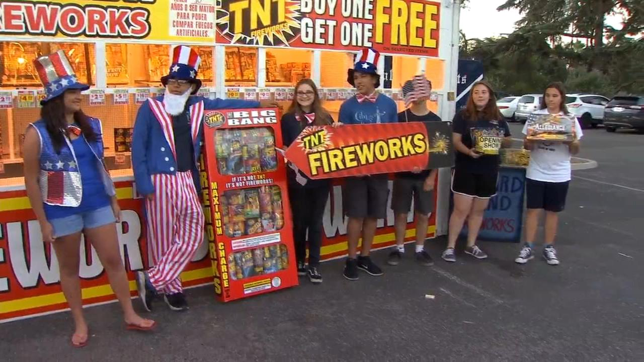 Fireworks stands start sales around the Valley