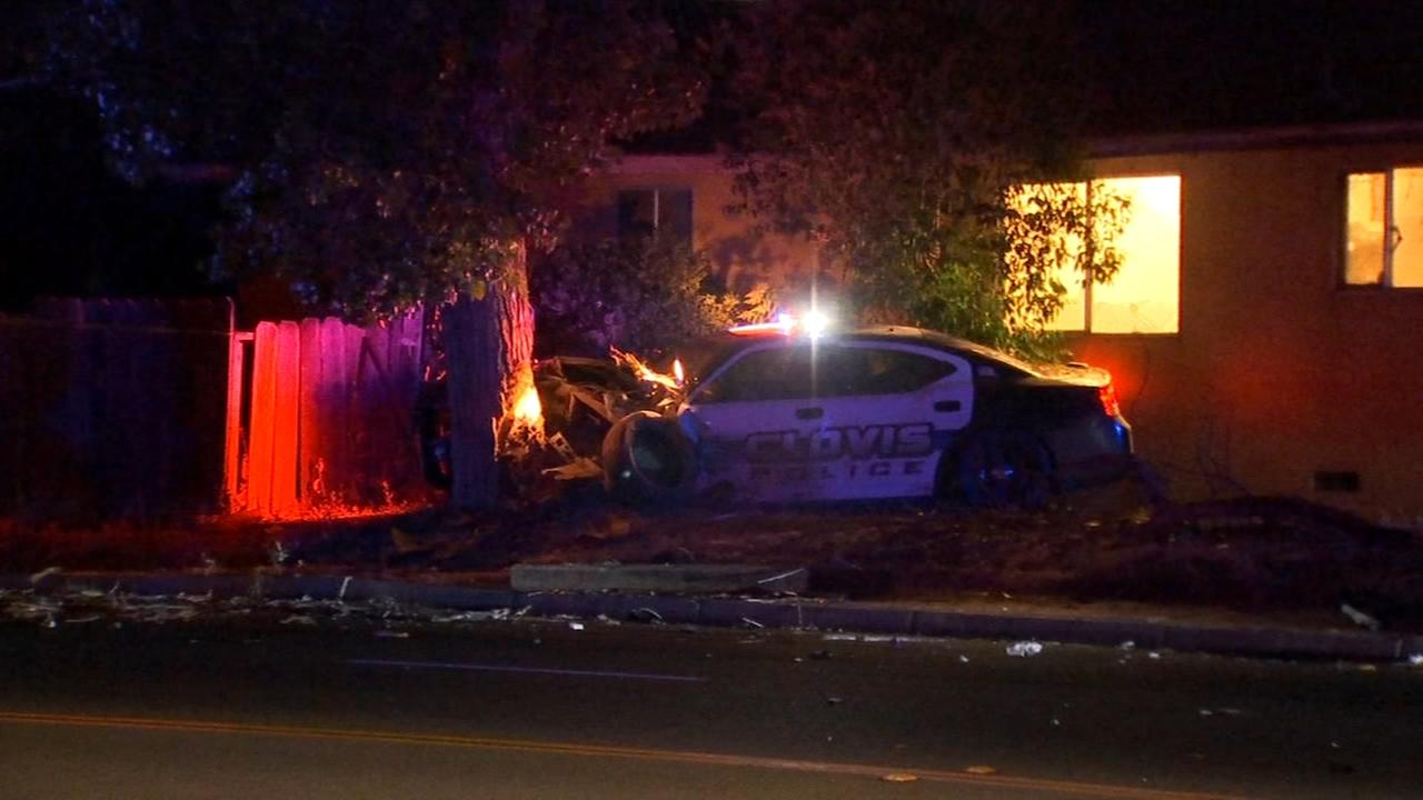 Person arrested for DUI crash that injured a police officer and a pedestrian in Clovis