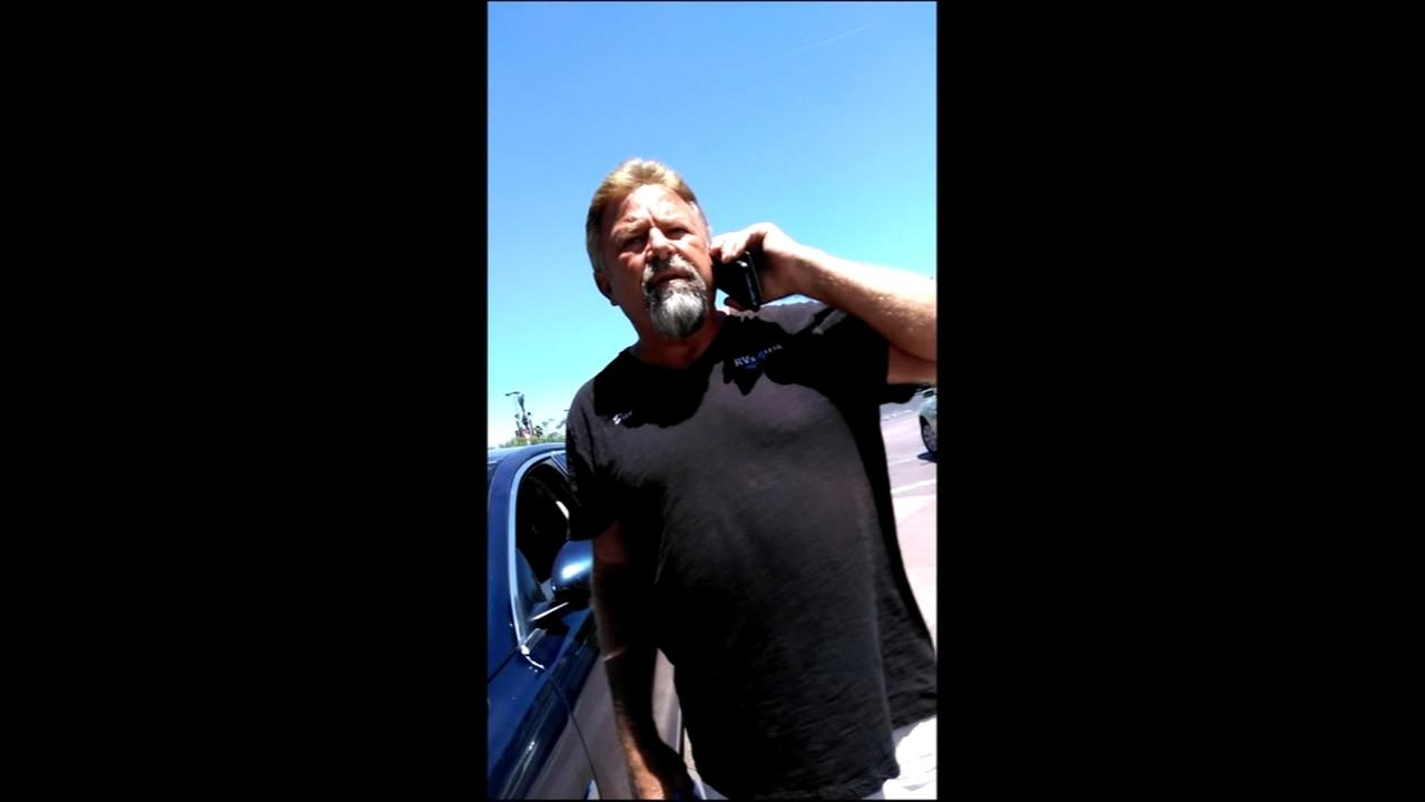 Racist road rage rant