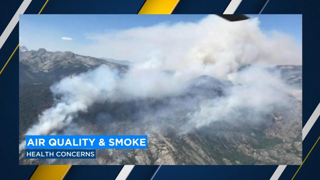 Smoke from wildfires and 4th of July causing air officials to issue health warning