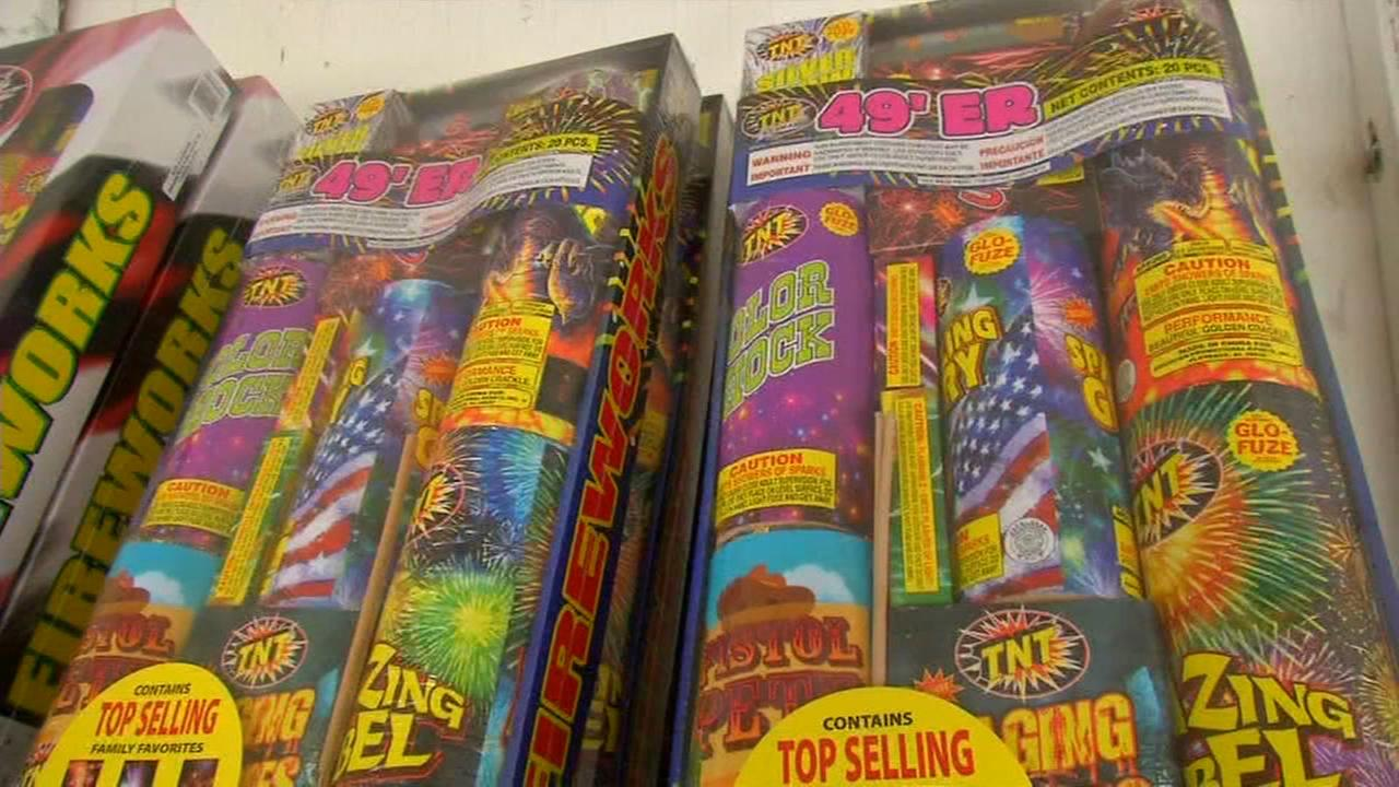 Fireworks booths use different methods to protect product overnight