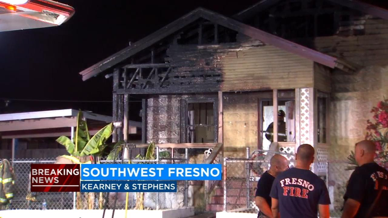Fire damages home in Southwest Fresno