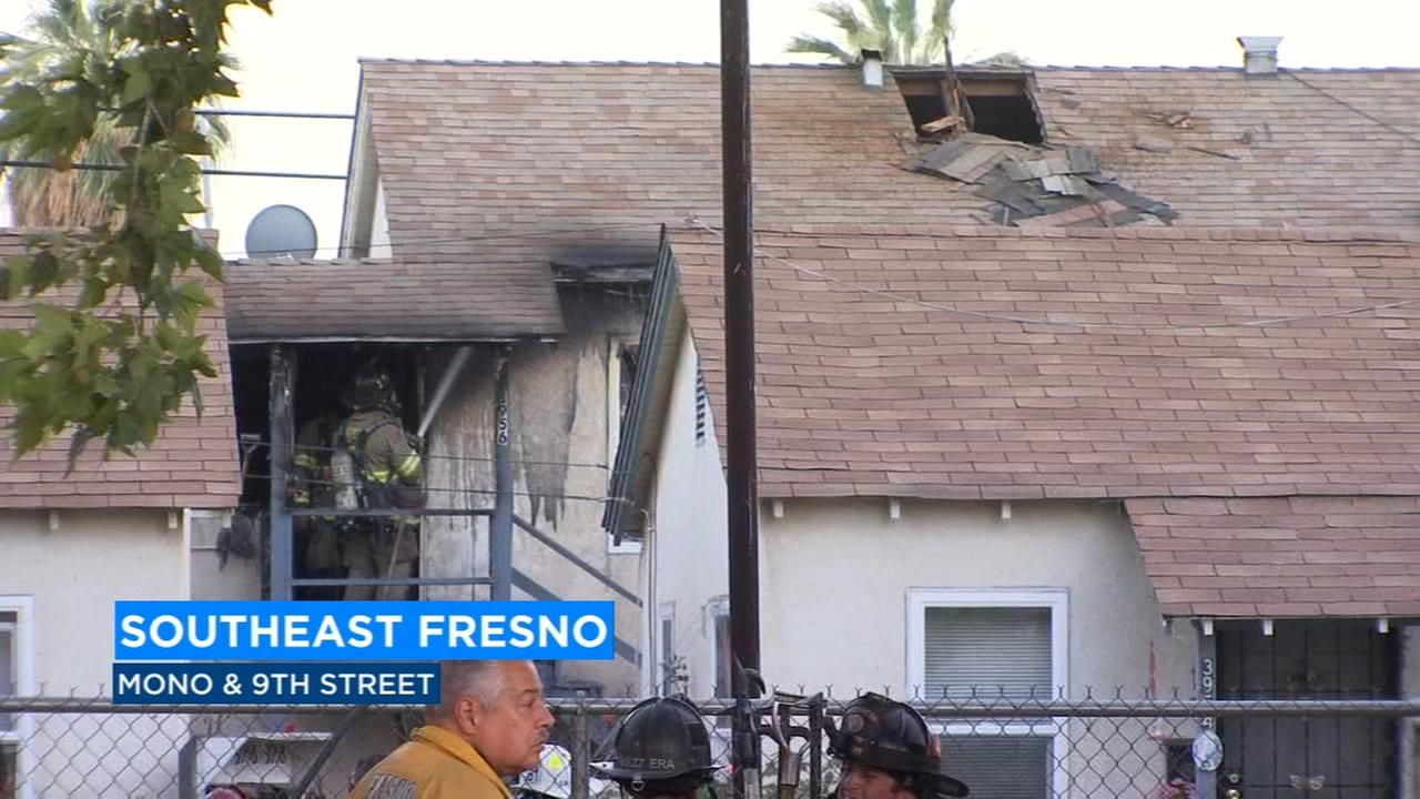 Fire destroys Southeast Fresno apartment