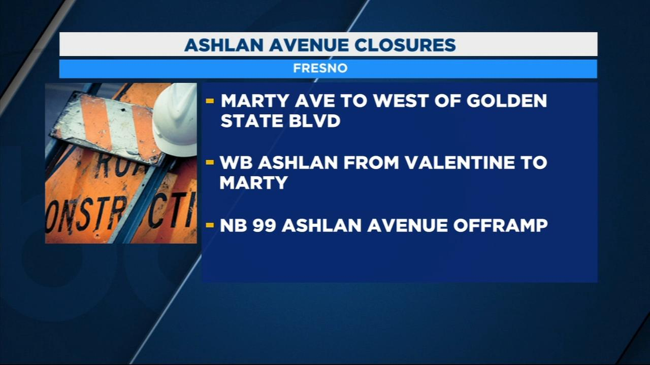 Part of Ashlan to be closed in Northwest Fresno for High Speed Rail construction