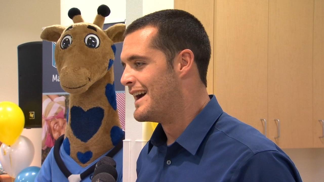 Derek Carr visits Valley Childrens Hospital