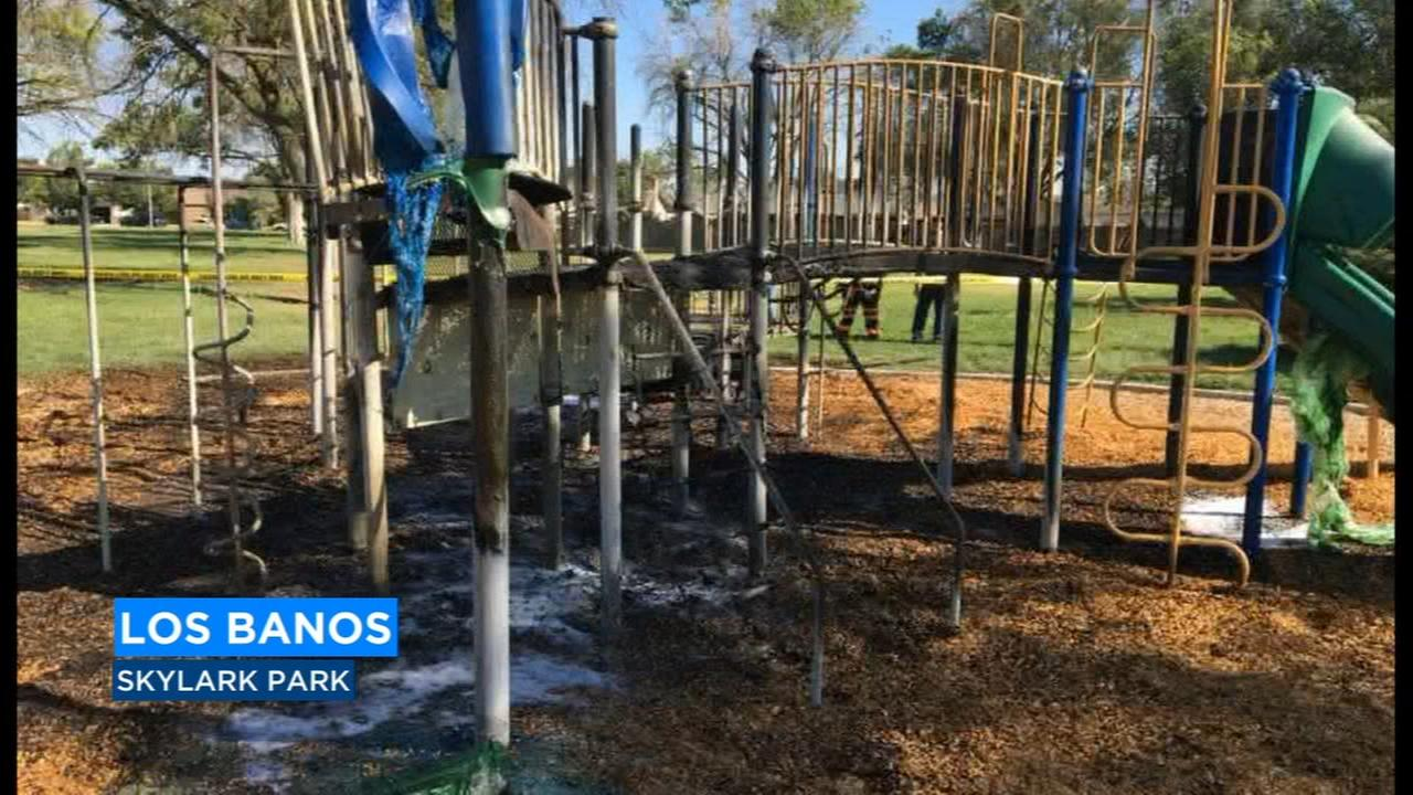 Los Banos Fire Department investigating early morning fire at playground