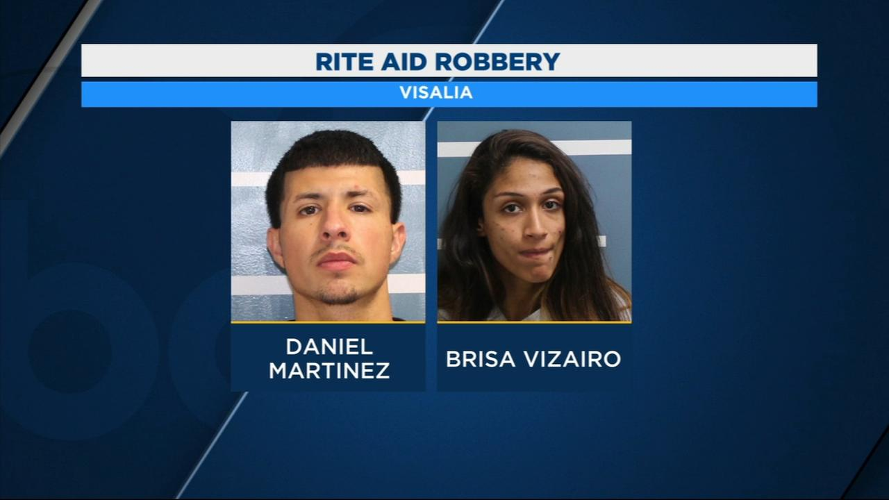 2 people arrested accused of robbing Rite Aid in Visalia