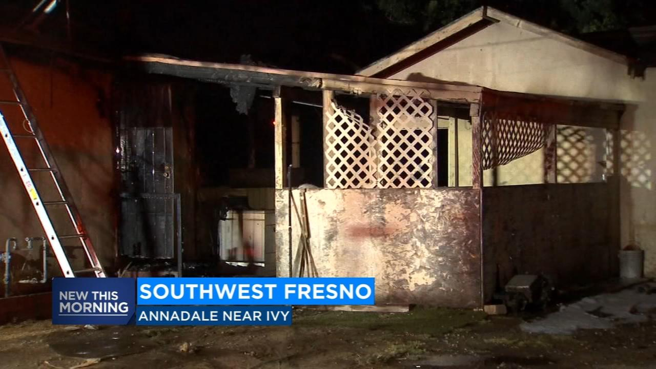 Fresno firefighters put out house fire at residence that has been on fire before