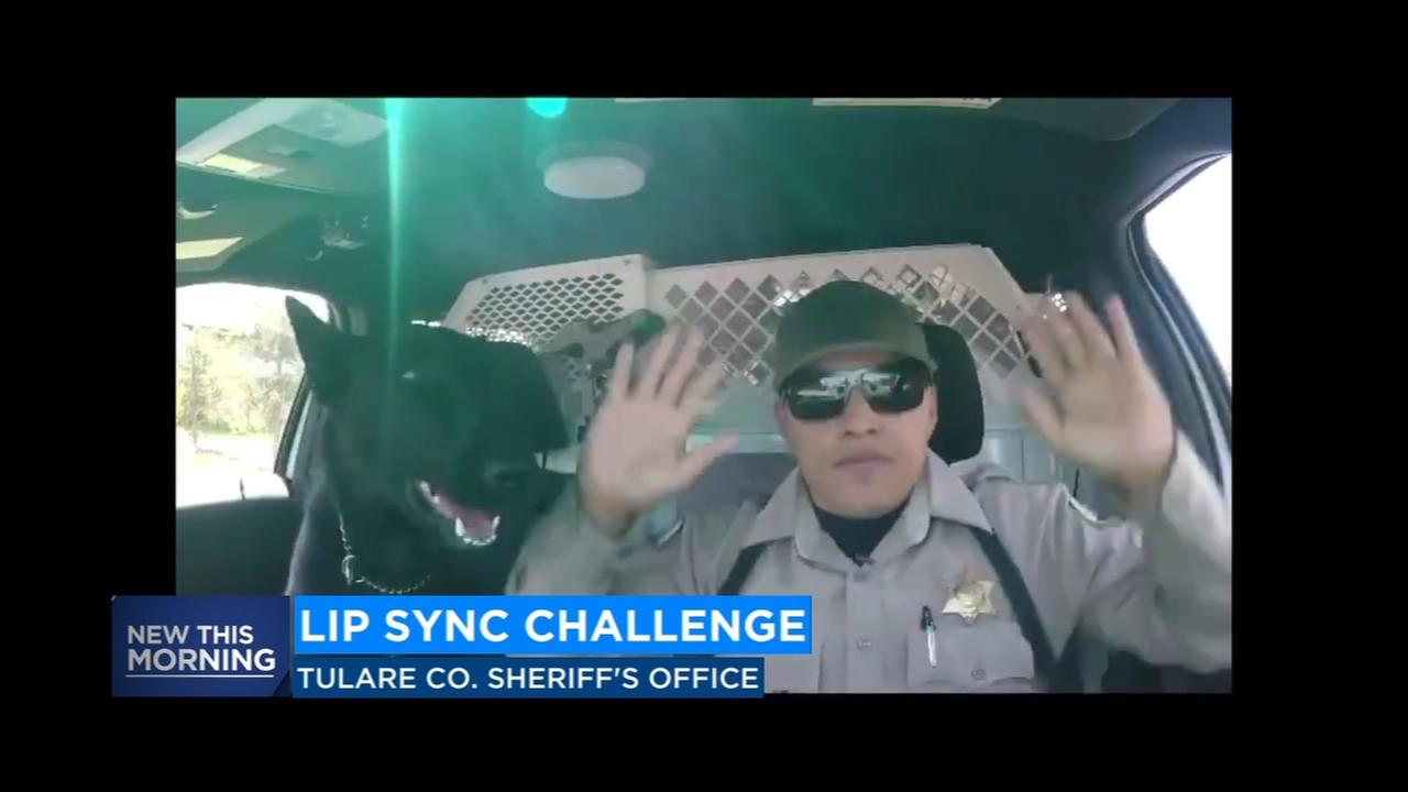 Video shows Tulare County Sheriffs deputy participating in lip sync challenge