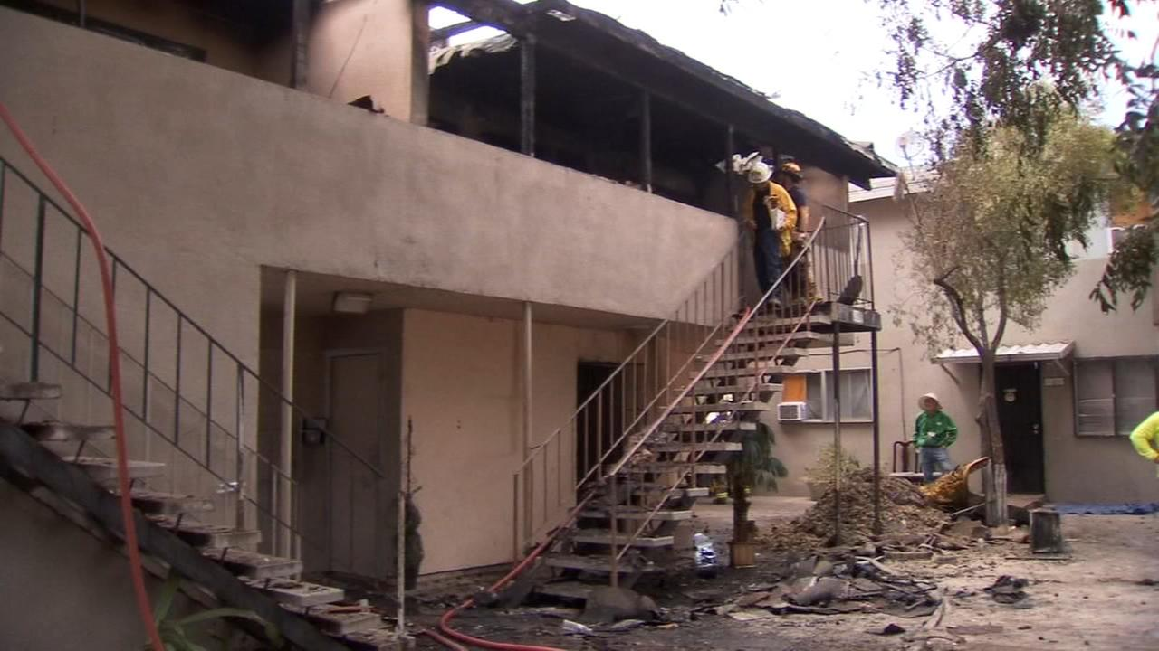 Two women hurt in apartment fire