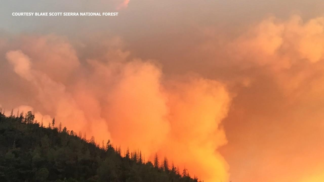 Ferguson Fire at 4,000 acres, evacuation advisory in effect