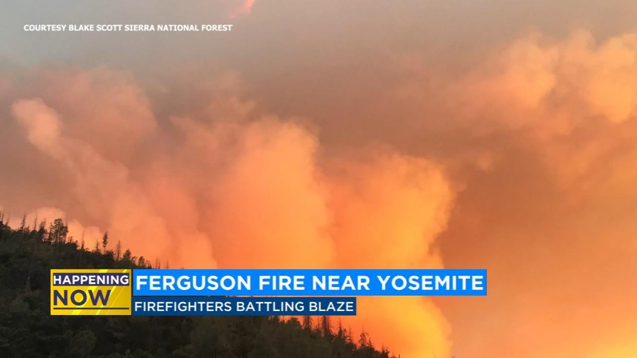 Firefighters continue to battle Ferguson Fire in Mariposa County