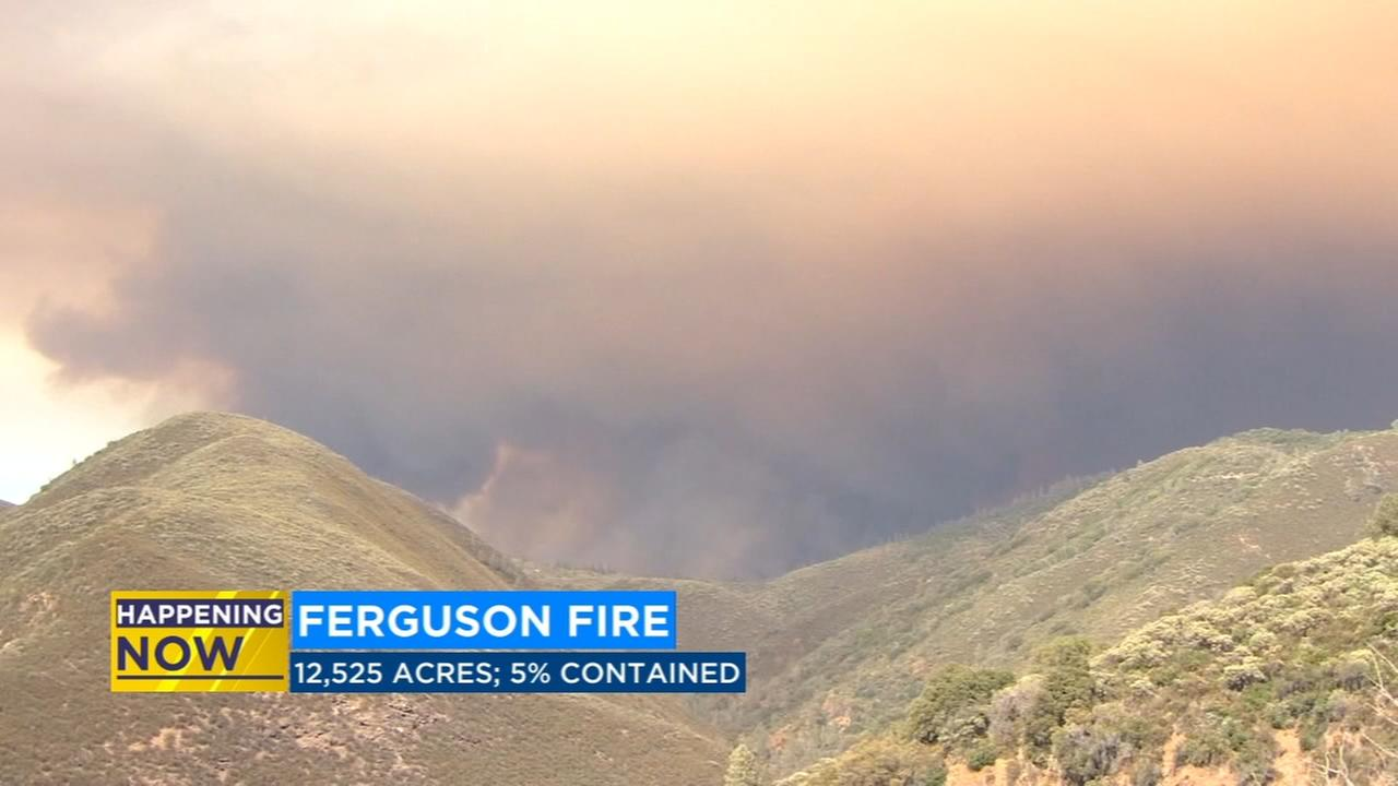 Ferguson Fire burns over 12,000 acres in Mariposa County