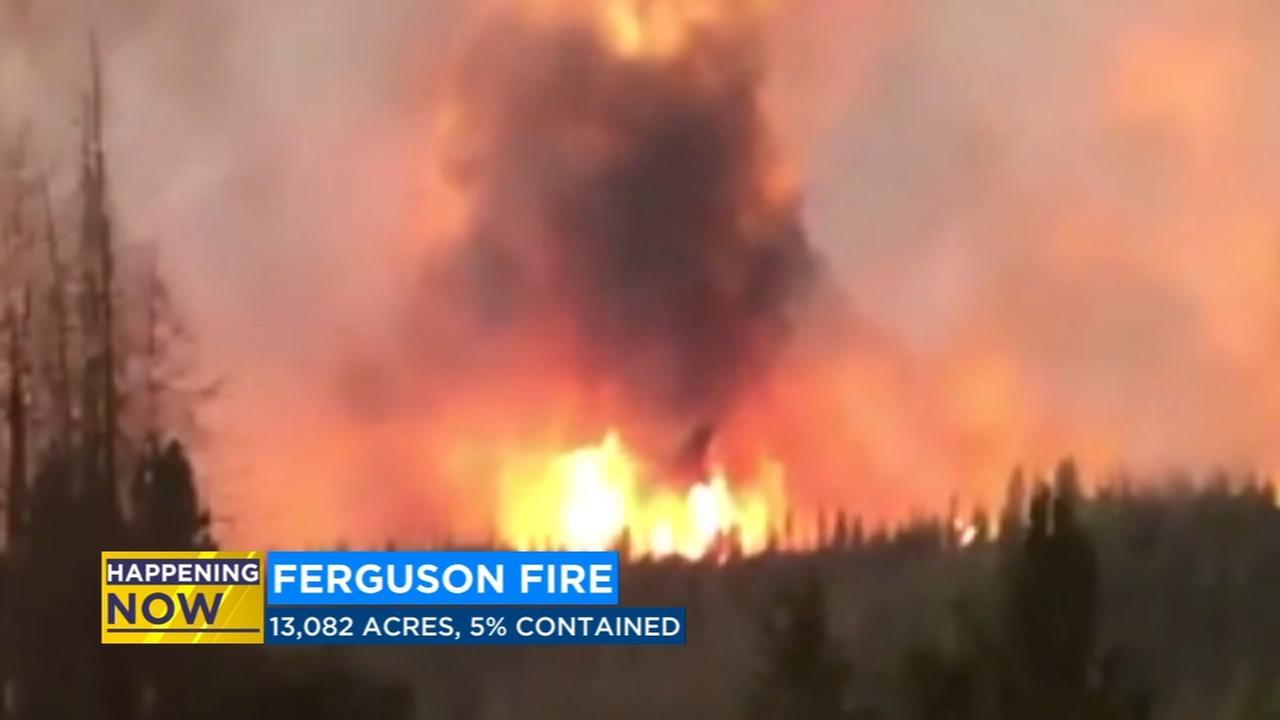 Ferguson Fire burns over 13,000 acres in Mariposa County