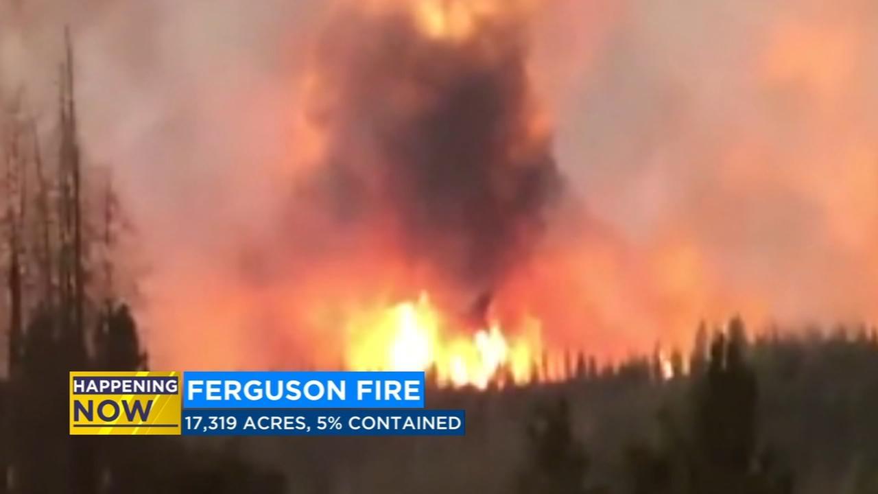 Ferguson Fire burns over 17,000 acres in Mariposa County
