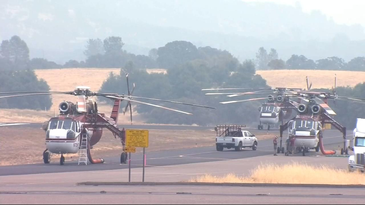 Smoke has hampered aerial firefighting efforts for Ferguson Fire
