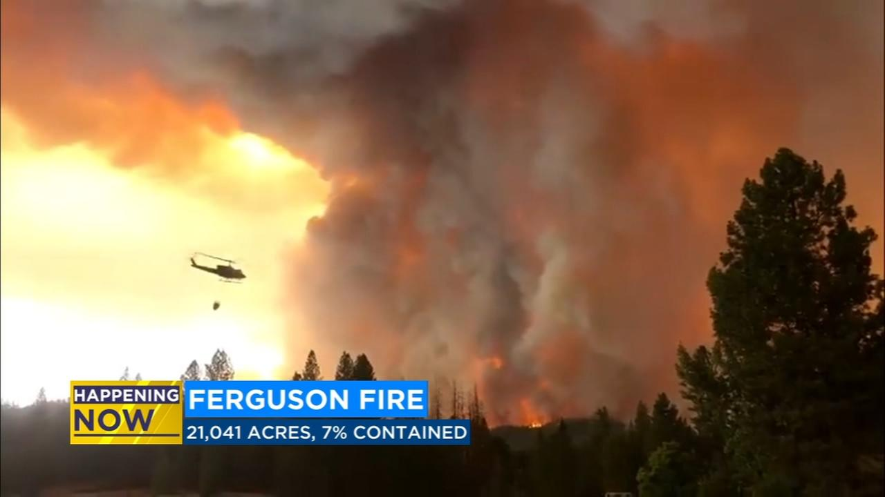 Ferguson Fire burns over 21,000 acres in Mariposa County