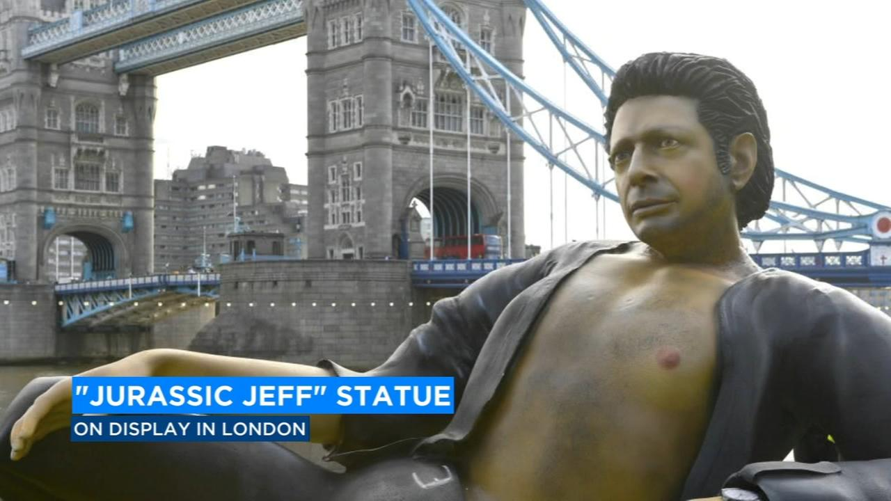 LIFE FINDS A WAY: Giant Jeff Goldblum statue appears in London