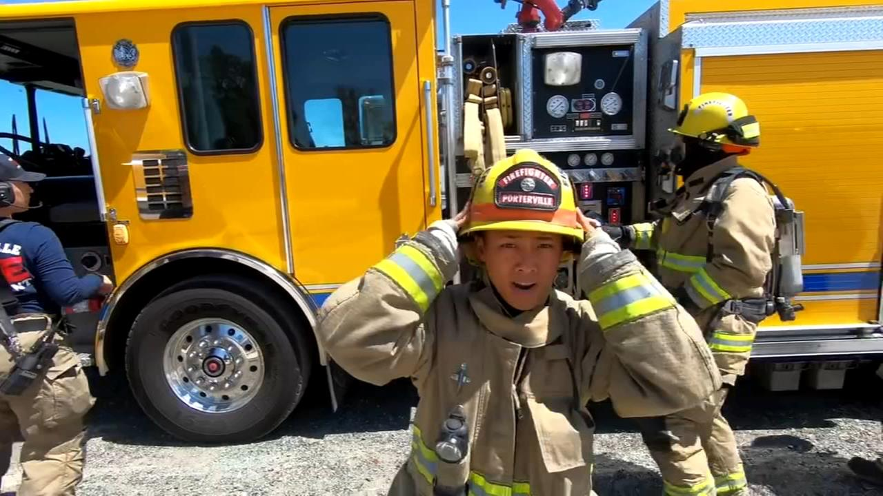 A challenge happily accepted by firefighters in Porterville