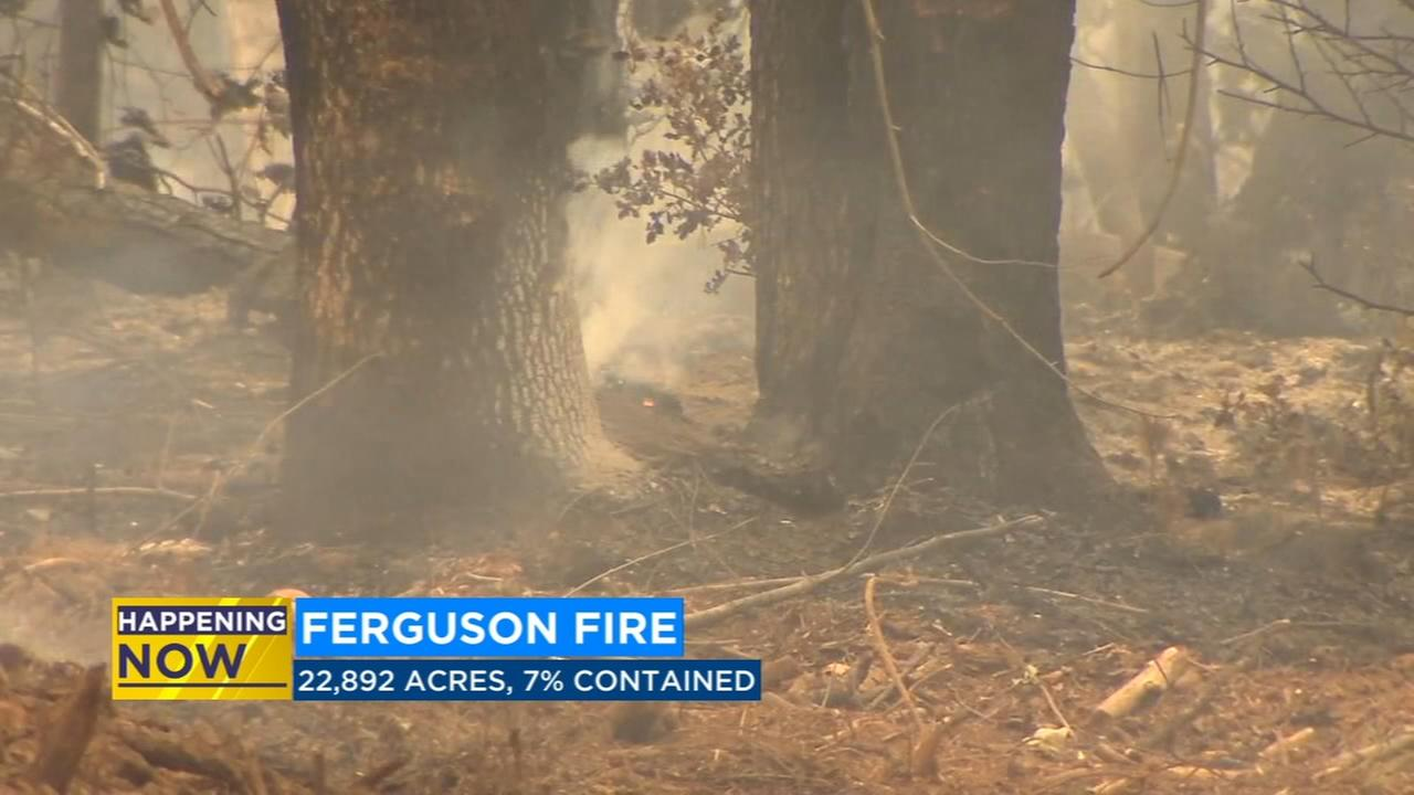 New fire advisory issued as Ferguson Fire gets closer to Yosemite National Park