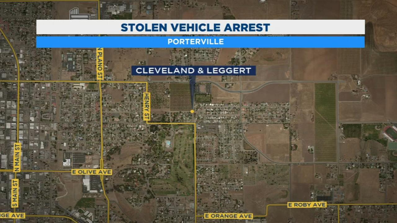 Teens arrested in connection with stolen car in Porterville