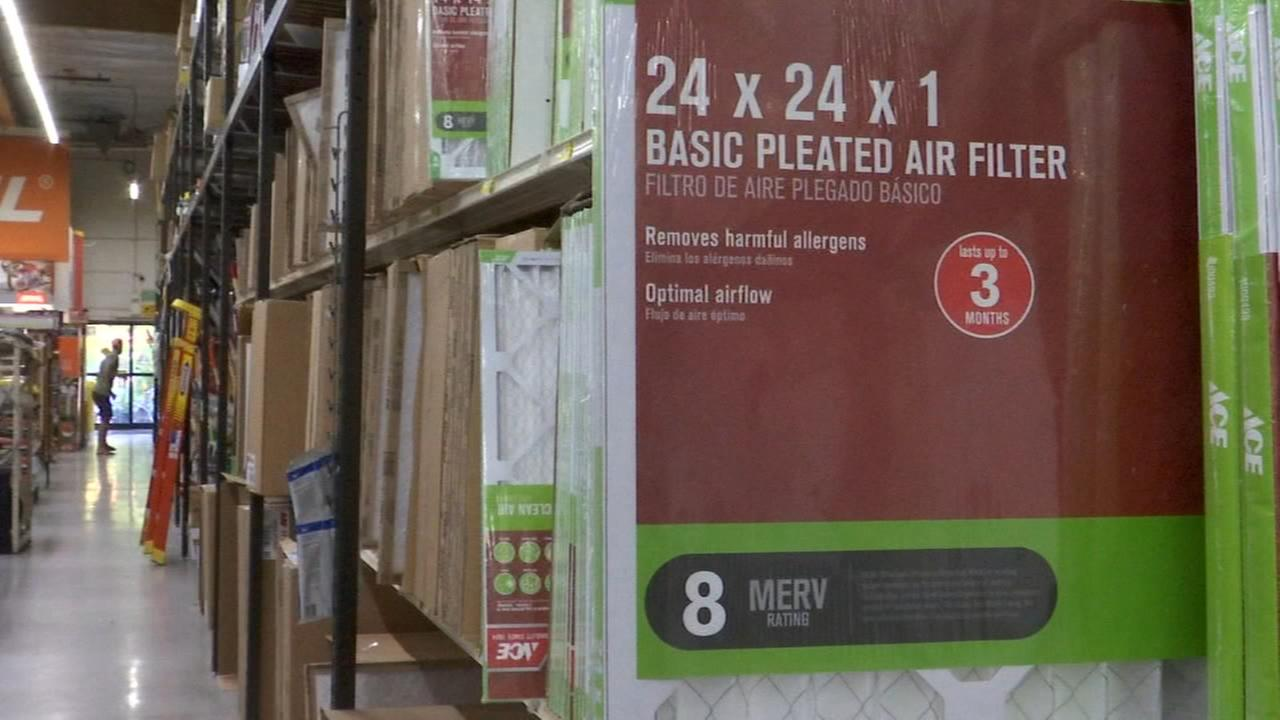 Experts recommend people check AC filters frequently due to smoky conditions