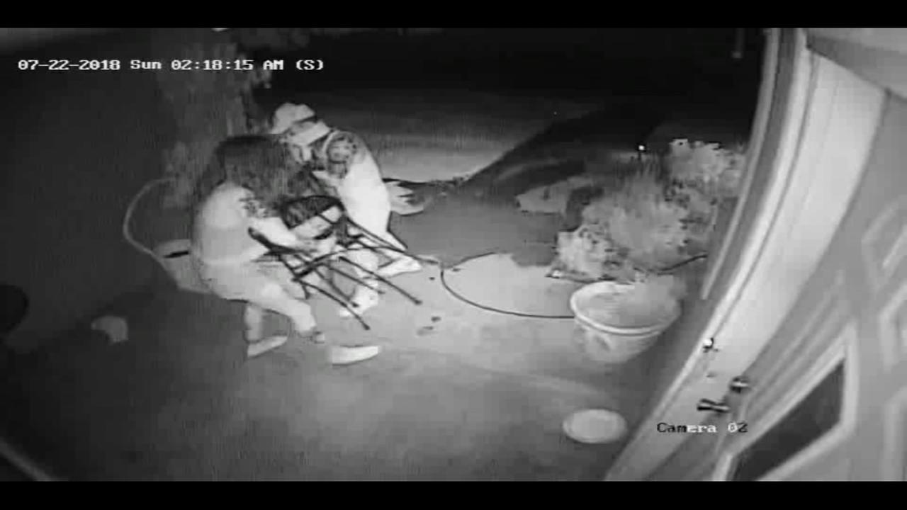 Suspected thieves sneak onto porch and snatch patio furniture