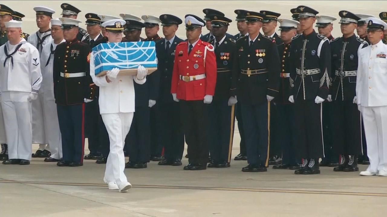 White House says North Korea returns remains of US servicemen killed during the Korean War