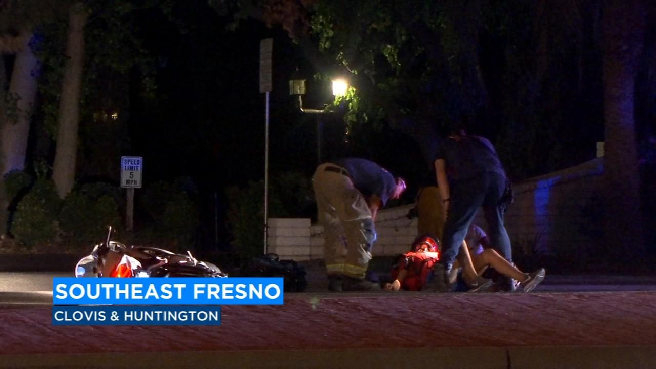 Man crashes into patrol car when police block road after man hit by car in Southeast Fresno