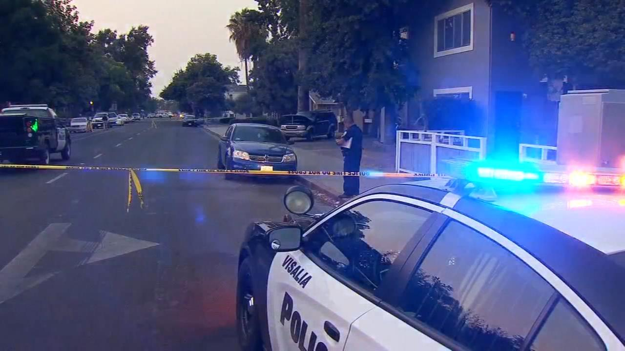 Large police response to deadly shooting in Visalia