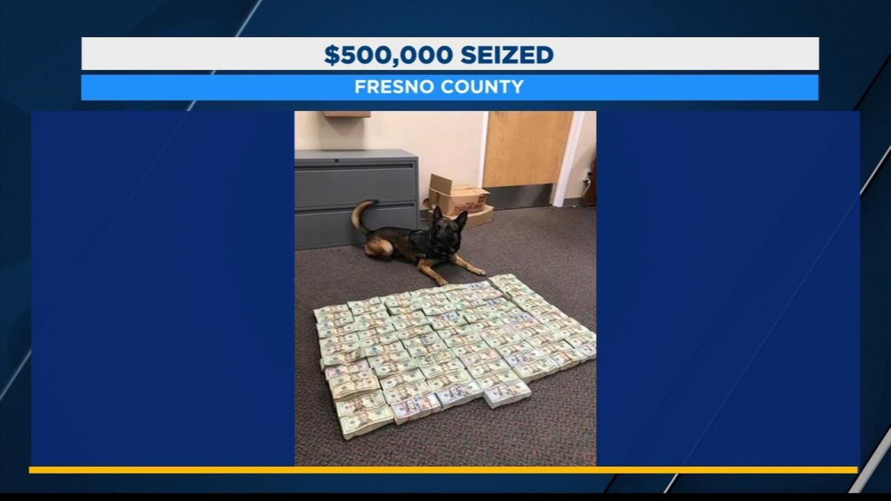 CHP K-9 officer helps find $500K hidden in truck in Fresno County