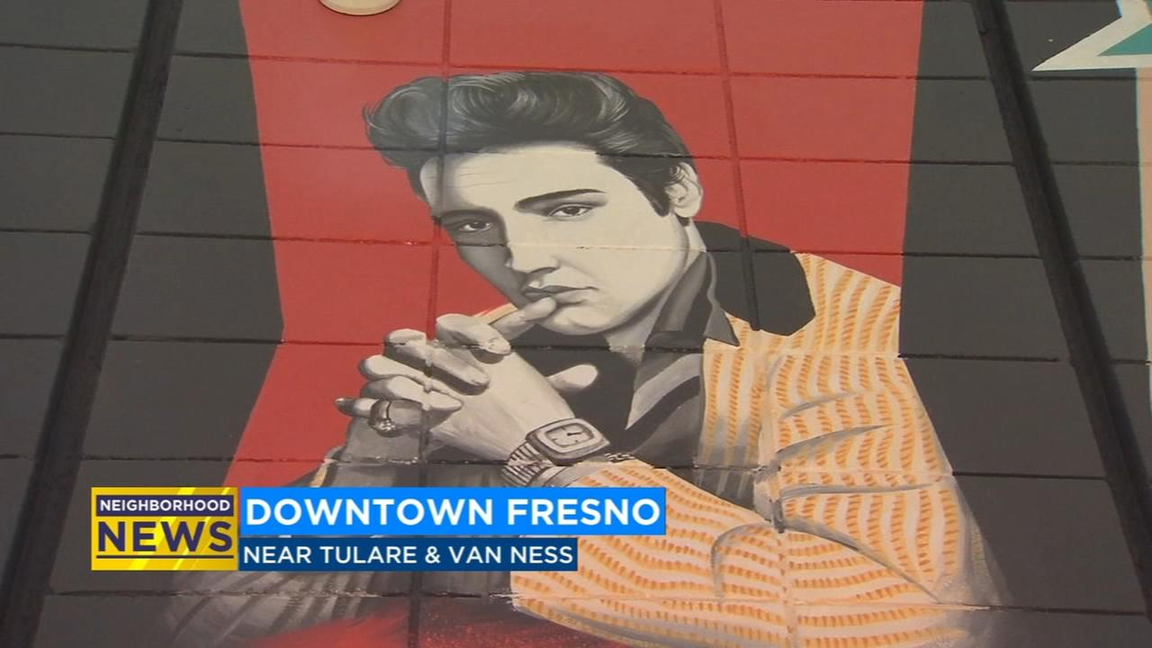 New rock-and-roll mural in downtown Fresno