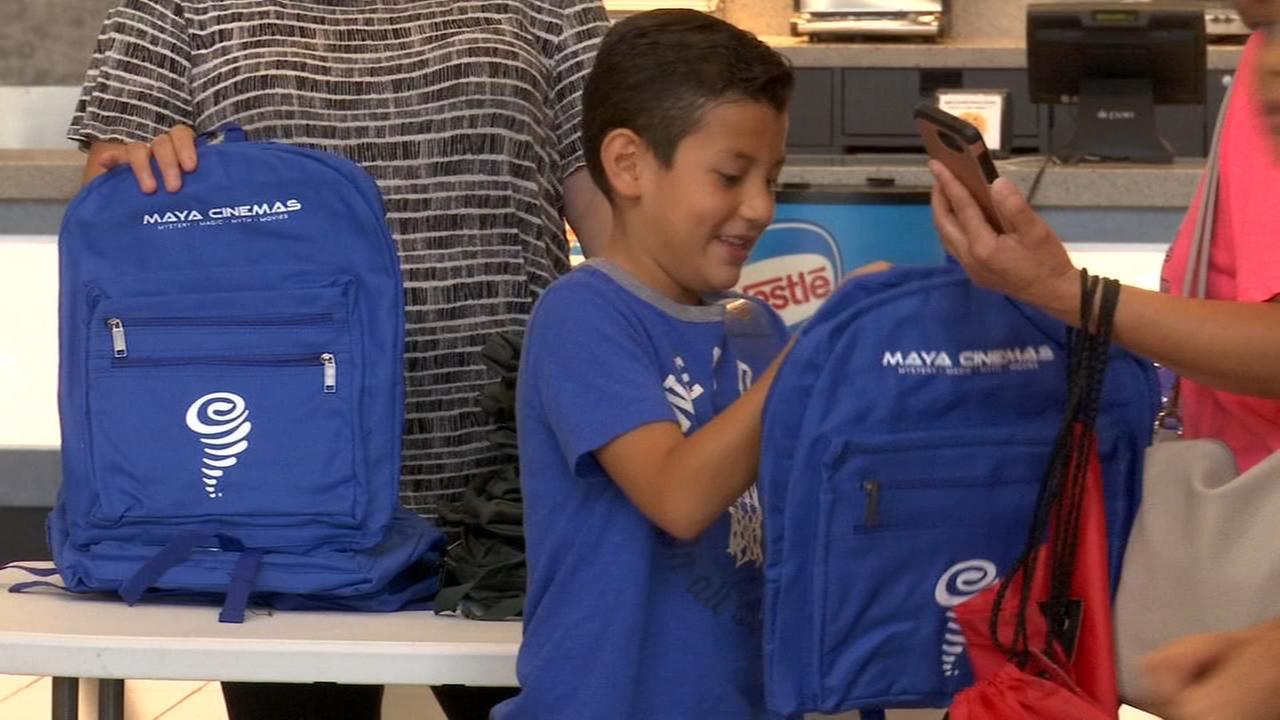 Backpack and supplies giveaway at Maya Cinemas
